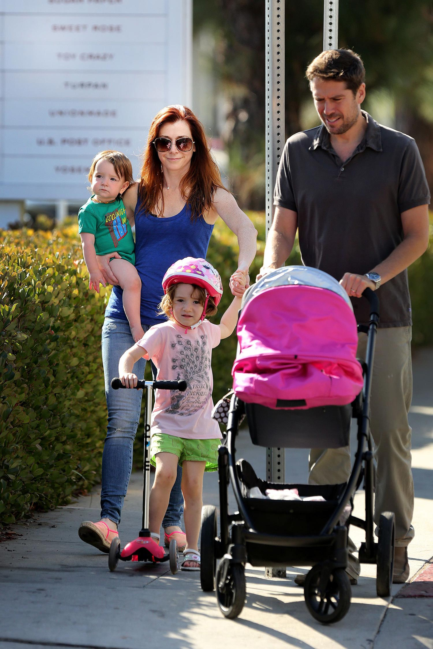 Family photo of the actress, married to Alexis Denisof,  famous for Friends for Life & American Dad!..